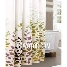white and green best casual waterproof leaf tree shower curtains