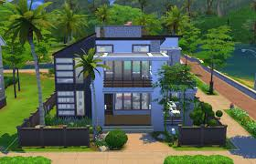 modern charm front the sims 4 houses pinterest sims and sims