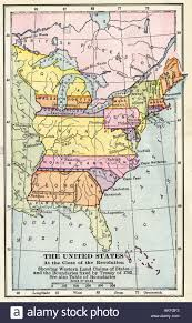 United States Map With States by Map Of The United States At The Close Of The American Revolution