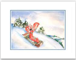 nautical christmas cards mermaid christmas cards nautical christmas cards set of 10