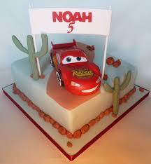 mc queen car cake