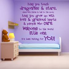 quotes wall stickers iconwallstickers welcome the world quote nursery baby wall sticker childrens home art decals