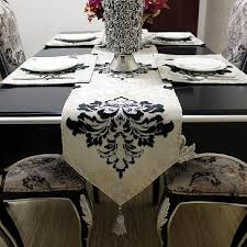 2015 floral woven home hotel new sale and silver lace table runner