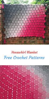 free crochet patterns for home decor hexawhirl blanket free crochet pattern crochet homedecor crafts