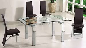 Glass Dining Table Expandable Glass Dining Table Dans Design Magz Practical