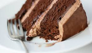 quintessential chocolate cake with whipped chocolate frosting