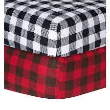 Flannel Crib Bedding Trend Lab Checkered Flannel Crib Sheet Trend Lab Baby Bed Sheets