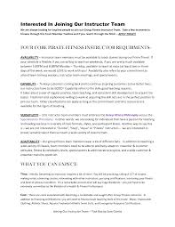 Fitness Resume Sample by Instructor Resume Samples Resume For Your Job Application
