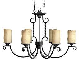 Wrought Iron Bathroom Lighting Luxury Rustic Wrought Iron Chandelier E14 Candle Black Vintage