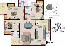 1645 sq ft 3 bhk floor plan image cordon sreevalsam available