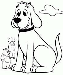 coloring page of a big dog clifford the big red dog meet neighbour coloring page coloring sun