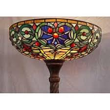 Stained Glass Floor Lamp Tiffany Style Stained Glass Torchiere Floor Lamp Free Shipping
