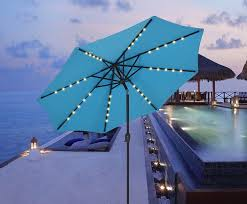 Patio Umbrellas With Led Lights 5 Best Patio Umbrella With Solar Lights Cheap Led Powered Light