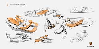 porsche cartoon drawing porsche fuel cell vehicle exterior design on behance