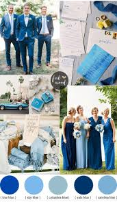 Garden Wedding Ideas by Mismatched Blue Bridesmaid Dresses For A Blue Wedding Theme
