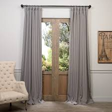 Heavy Grey Curtains Buy Pewter Grey Heavy Faux Linen Curtain Drapes New House