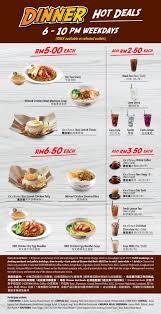ik cuisine promotion oldtown white coffee dinner deals menu selected outlets 6pm