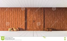 thai carved wooden partition wall 3d rendering stock illustration
