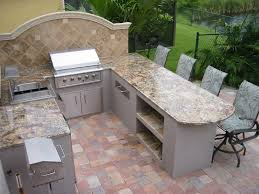 beautiful outdoor kitchen granite countertops including grill