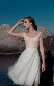 Knee Length Wedding Dresses Tea Length Bridal Dresses Mid Length Wedding Gown Dorris Wedding