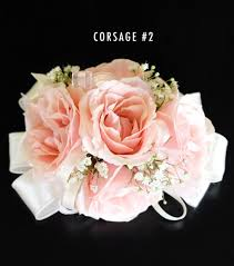 corsage flowers blush pink corsage 2 bridal flowers to go