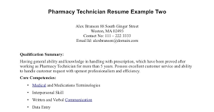 Example Of Pharmacy Technician Resume by Pharmacy Tech Resume Samples Sample Resumes