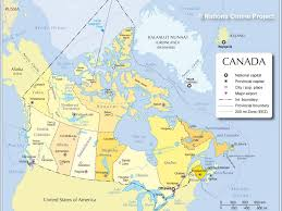 Map Of Ottawa Map Of Canada Showing Ottawa 13 Administrative 1024 768 For