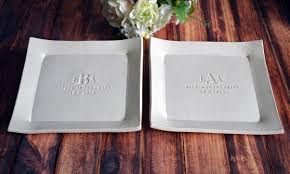 Wedding Gift Set Parent Wedding Gift Set Of Personalized Platters Mother Of The
