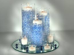 blue centerpieces blue wedding centerpieces with candles ipunya