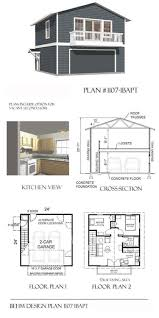 garage plans two car story with apartment and balcony plan awesome