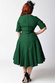 emerald green sleeved swing dress plus size pippa u0026 pearl