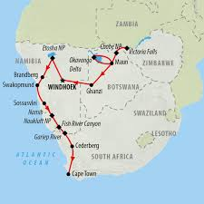 Africa Map Rivers South Africa Tours And Safari Holidays On The Go Tours