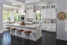 Nickel Pendant Lighting Kitchen Kitchen U0026 Dining Interesting Kitchen With Wood Seat Counter Stool