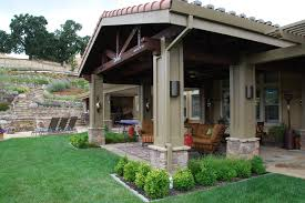 Covered Patio Designs Pictures Backyard Patios Ideas Patio Mediterranean With Column Covered