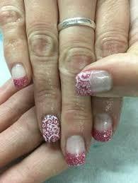 rainbow ombré french gel nails gel nail designs pinterest