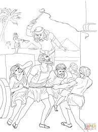 egyptian enslavement of israelites coloring page free printable