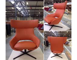 Swivel Rocker Chair Base by Kalm Swivel Metal Base Lounge Chair U0026 Ottoman Hivemodern Com
