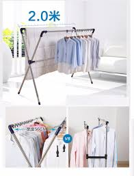 x shaped stainless steel extendable foldable hanging clothes rack