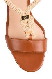 leather sandal holly brown michael michael kors little soho