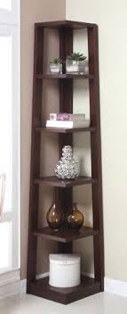 Walnut Corner Bookcase Five Tiers Corner Bookshelf In Walnut Finish By H M Shop 114 36