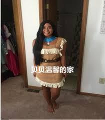 Custom Halloween Costume Aliexpress Buy Pocahontas Matoaka Costumes Indians Princess