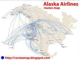 alaska air map international flights alaska airlines route map