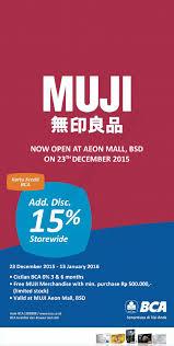bca aeon muji aeon mall bsd city opening promo additional discount 15