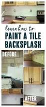 painted tile backsplash cover those ugly tiles remodeling