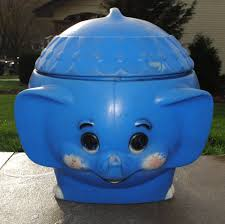 vintage blue elephant plastic toy box disney dumbo little tikes