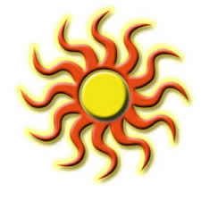 clipart picture of a tribal sun design