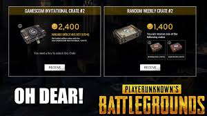 pubg loot crate playerunknown s battlegrounds added pay to open loot crates only