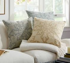 gracie crewel embroidered pillow cover pottery barn