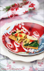artichoke u0026 kale bruschetta toppers and easy holiday decorating tips