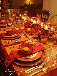 to decorate the table at thanksgiving dinner 2017